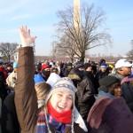 Jen Friedman at Obama's 2009 inauguration